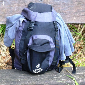 mein Rucksack für drei bis fünf Tage
