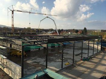 Sportzentrum Berg, Mehrzweckhalle Aufbau