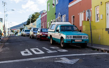 Street scene in Bo-Kaap, Capetown, South Africa