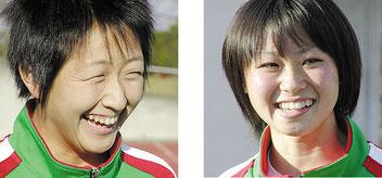 2002年(平成14年)当時の沢口さん(左)と橋本さん