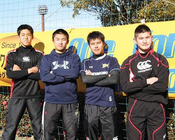 写真(左から)大川、大谷、佐藤、三井