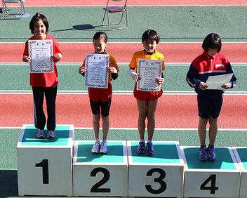 女子4年優勝の山下