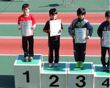 男子3年優勝の永田