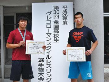 齋藤(左)と勅使川原