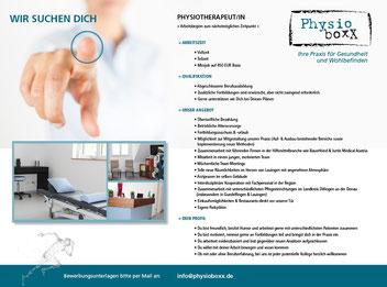 Stellenanzeige Physiotherapie, Lauingen an der Donau, Landkreis Dillingen