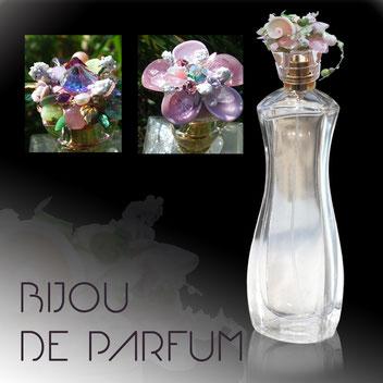 Michèle Jarry des Loges. Bijou de Parfum. Image: Bouchons de parfum bijoutés.