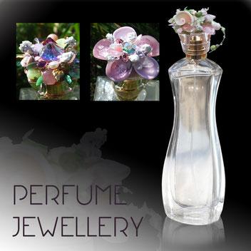 Michèle Jarry des Loges. Perfume Jewellery. Picture: Perume Bottle.