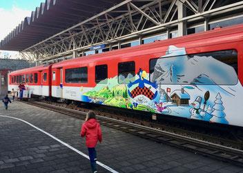 Globiwaggon der Zentrahlbahn