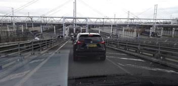 Auffahrt zum Eurotunnel