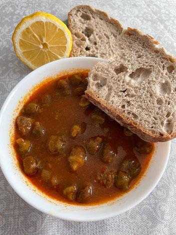 Okra Rezept türkisch Bamya Corbasi