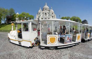 Paris mit Kindern Montmartre Zug