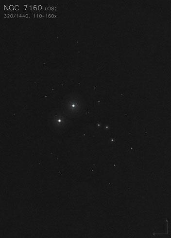 NGC 7160 Zeichnung