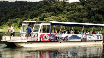 Crossing the lake, shuttle Arenal to Monteverde