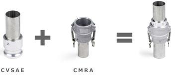 Camlock Kupplungen, Kamlock, Hebelarmkupplung, Schlauchanschluss edelstahl und Rohranschluss
