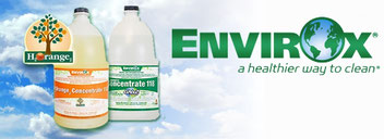 "Envirox is one of the brands of ""green"" cleaning products used on campus"