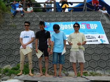 シニアクラス 4位 岩谷松樹(写真一番右) こちらも出場枠GET!