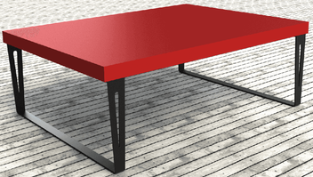 pied de table design pour table de salon