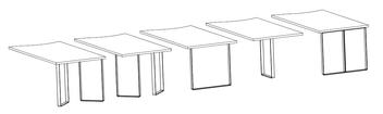 Exemples de montages avec des pieds de table pour cuisine