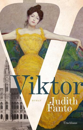 Das Bild zeigt das Cover von Viktor von Judith Fanto mit dem Gemälde einer Frau in einem langen Kleid.