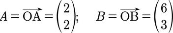 Beispiel Punkte und ihre Vektorkoordinaten