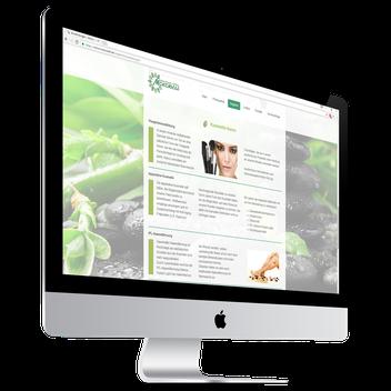 Erstellte Website vom Mokowell Wellness-Studio aus Kerpen auf Apple Monitor