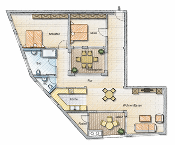 H10 wohnungen im heinrichsplatz 10 jhs design for Wohnung design app
