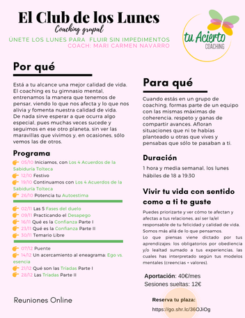 Cartel de coaching grupal