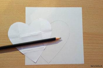 Warum ich dich liebe - einen Herz-Brief zum Valentinstag (Schritt 1 - Vorlage aufzeichnen)