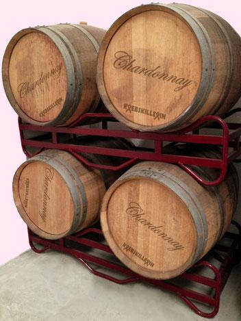 Chardonnay-Fässer
