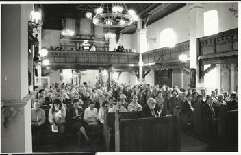 Bei einem Gottesdienst in Öbisfelde Foto: Eberhard Rohde