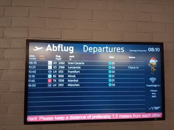 6 Flüge am ganzen Tag ab Hannover