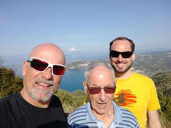 Mit Papa und Markus am Chelidoni