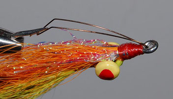 Clouser Half and Half Fitted with Wire Snag Guard