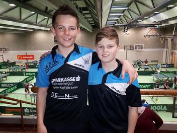 Christian Kragl von der SPG Ebensee mit Jakob Wilder in der Kapfenberger Halle bei den österreichischen Meisterschaften.