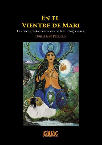 """Portada del libro """"En el vientre de Mari"""" con oleo de la pintora Paz Treuquil."""