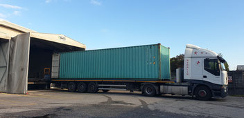 Unser Container in Mailand
