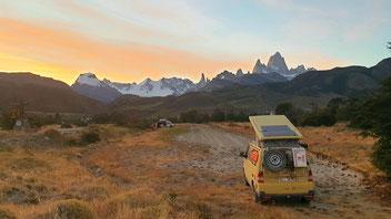 Sonnenuntergang in El Chaltén