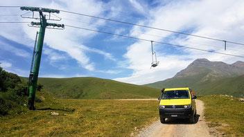 Skigebiet in Llessui seit 1987 ausser Betrieb