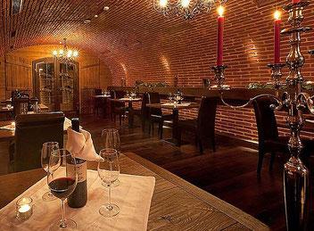 Gewölbekeller des Restaurants Chili im Hotel Schlosskrone