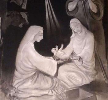Un dettaglio del presepe di Santa Maria della Vittoria Foto: AT