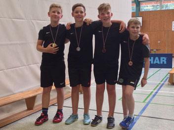 von links: Arian, Maximilian, Dustin und Eliah