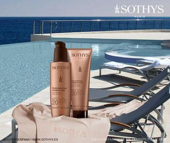 Los productos de la Linea Solar de Sothys. Protectores solares de Sothys.