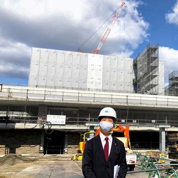 枚方市総合文化芸術センター 建設工事現場視察(2020/11/4)ばんしょう映仁