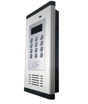 INT200GSM  El intercomunicador GSM es un nuevo tipo de sistema avanzado de control de acceso, admite marcado para abrir la puerta para usuarios o visitantes.  admite hasta 1,000 números de teléfono autorizados para un máximo de 200 números de habitación,