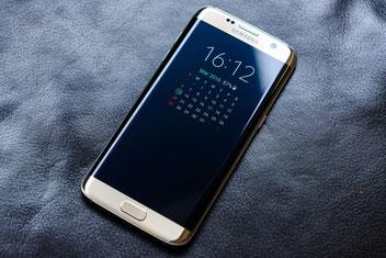 Samsung S7 Edge Kalender des Always On Display