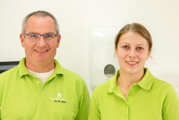 Dr. Linke und Deborah Gerwing, Zahnärzte in der Prophylaxepraxis Ahaus