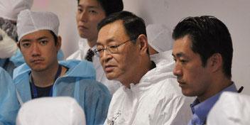 Masao Yoshida, l'ancien directeur de la centrale de Fukushima, le 12 novembre 2011. | AFP/JAPAN POOL