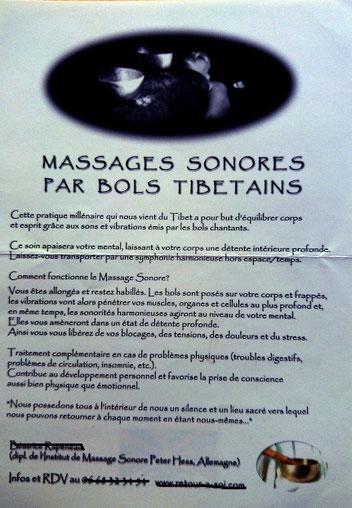 Affichette bols tibétains