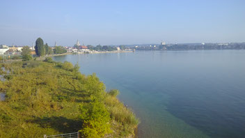 Blick über Bodensee und nach Konstanz
