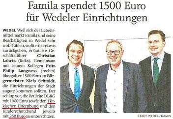Wedel-Schulauer Tageblatt am 04.01.2018